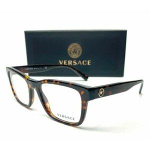 Versace Men's Dark Havana Square Eyeglasses!